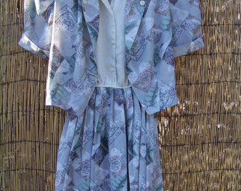 Sale/  Womens 1980s Silky Dress/ Size 11