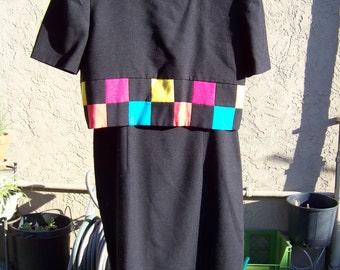 Womens 1980's Dress / Size 9/10