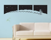 Rocketman, Moon man, Astronaut on the moon wall decal