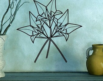 Origami Flowers Vinyl Wall Decal