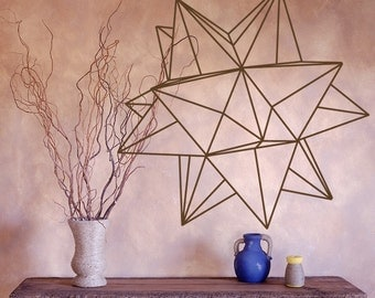 Origami Star Geometric Vinyl Wall Decal