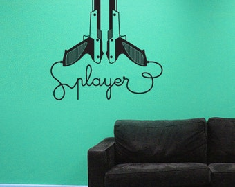 Nintendo Gun Player Vinyl Wall Decal
