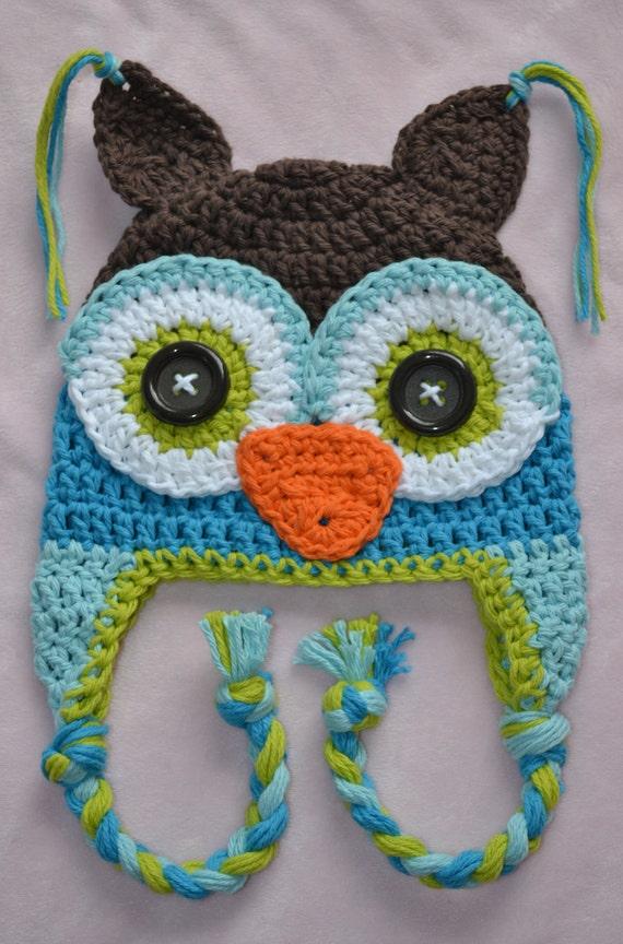 baby owl hat, baby hat, boy owl hat, kids owl hat, baby boy owl hat