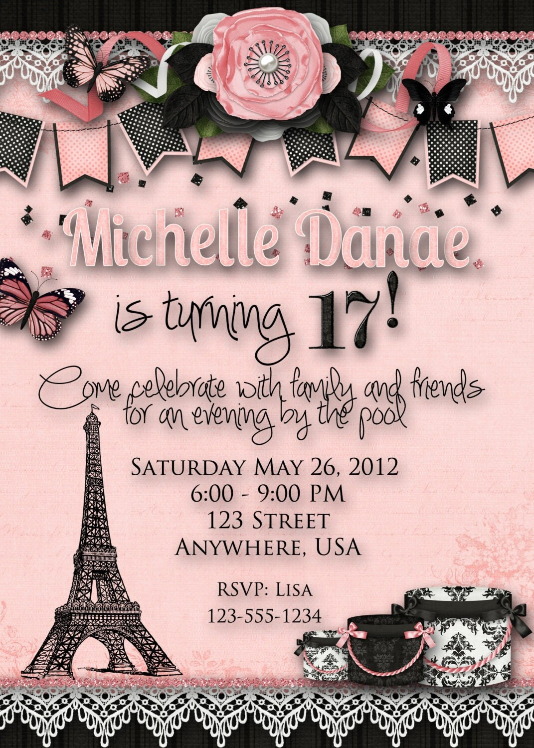 Paris Themed Birthday Invitations can inspire you to create best invitation template