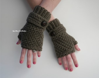 INSTANT Download - Sophie Fingerless Gloves CROCHET PATTERN Pdf File - Teen/Adult - Permission to sell finished item