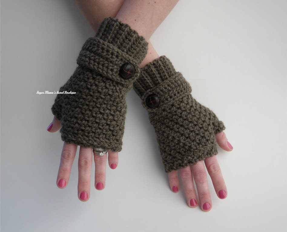 Download Crochet Patterns : INSTANT Download Sophie Fingerless Gloves CROCHET PATTERN by ...