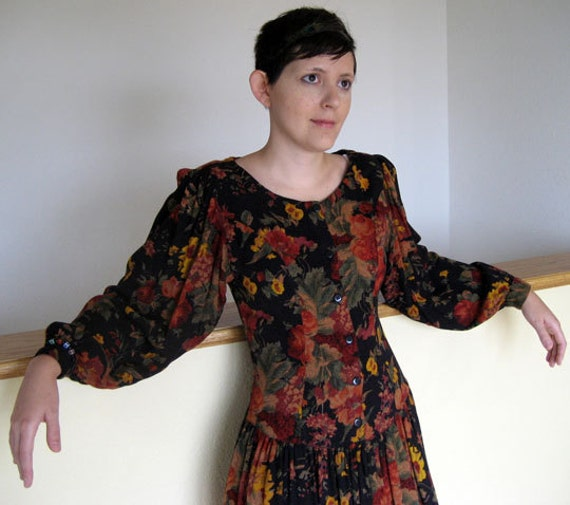 Vintage rayon dress made in India.  Ladies size 6-8.  Sale, reduced 25 dollars.