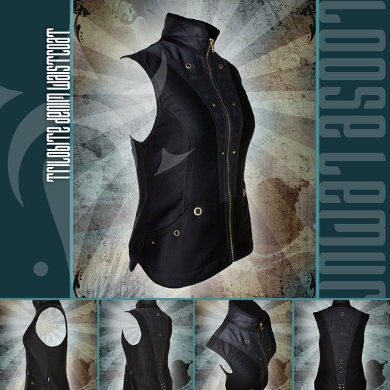 Women's Trilobite Vest lined with Polar Fleece with Gunmetal Hardware by Loose Lemur Clothing