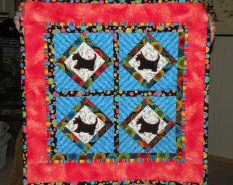 Scotty Wall or Lap Quilt