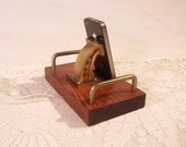 The Industrial - iPhone - iPod Dock -Charger and Sync Station - Oak - Brass style V8-EX Model...