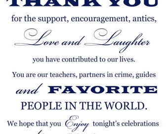 Custom Printable Wedding Thank You Card Digital File