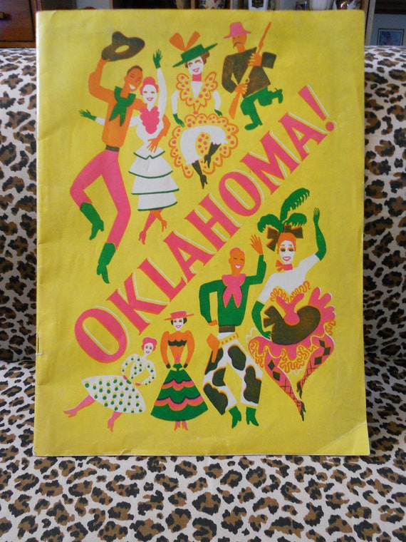 Vintage Playbill Rodgers and Hammersteins Oklahoma 1940's