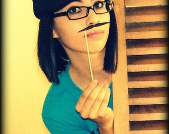 Mustache on a Stick-Little Man Party-Mustache Party-Party Props-The Pencil-Photo Booth-Party Props-Little Man