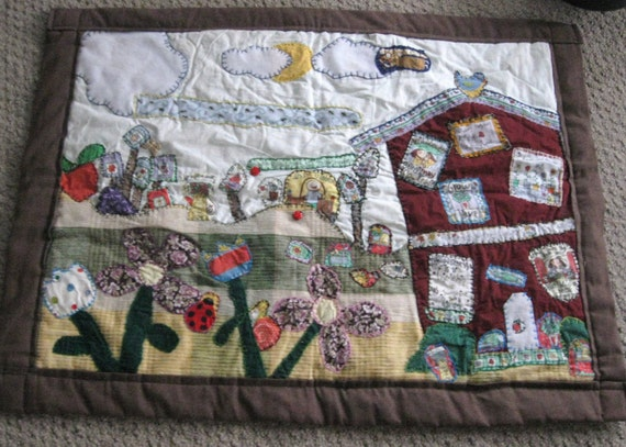 What Makes the Garden Grow a 29x32 wall hang applique quilt