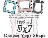5x7 whimsical picture frame - Choose your shape and color