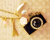 Paris in pink - a camera necklace