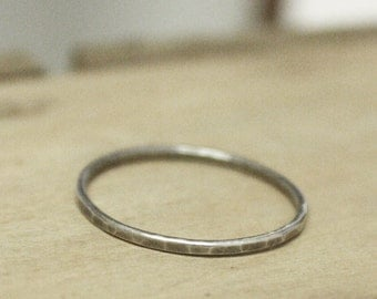 Posy Collection - Individual Simple Stirling Stacking Rings