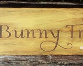 Bunny Trails, Easter Bunny, Easter Signs, Rustic, Primitive, Wooden Signs