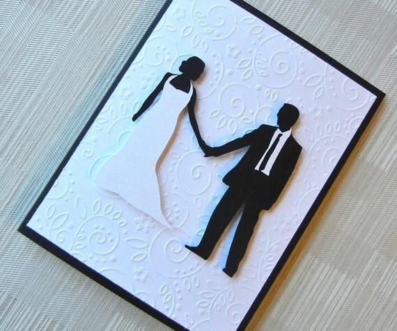 wedding card congratulations card black and by keylimecards
