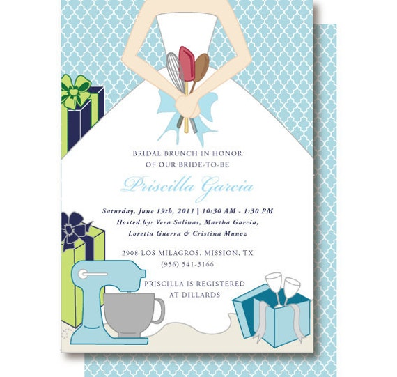 Kitchen Bridal Shower Invitations and get inspiration to create nice invitation ideas