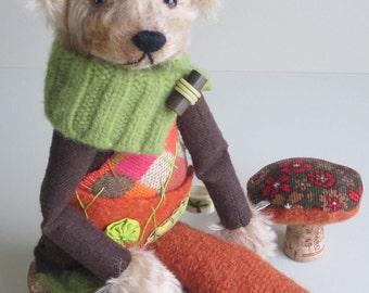 "Mohair & Wool Bear ""Pogo"" 15 inch"