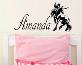 wall decals nursery Personalized decal name decal with Unicorn wall decal kids wall decal for girls nursery decor vinyl decal wall decor