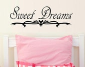 wall decal Sweet dreams with flourish quote