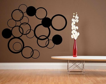 wall decal Circles geometric style room decor decal kid decal girl wall decal living room home decor decal bedroom ploka dot decor vinyl