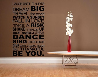 Be you house rules wall decal WD subway style large wall decor