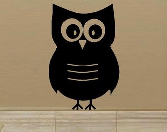wall decal Owl cute nursery decor child decal baby decal living room decal home decor bedroom decal vinyl wall decal wall decor owl decal