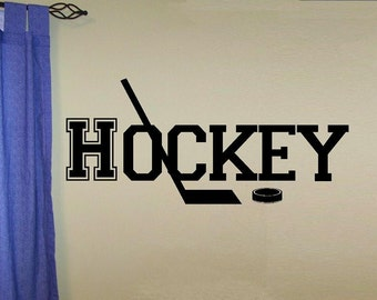 varsity Hockey decal wall decal kids kids decor nursery decal sport decal boy decal home decor decal men wall decal living room ice hockey