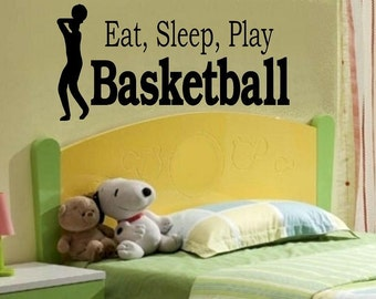 wall decal kids Eat sleep play Basketball decal kid decor nursery decal sport decal boy decal home decor decal men wall decal living room