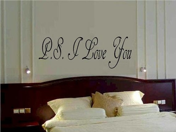PS I Love you wall decal bedroom nursery quote