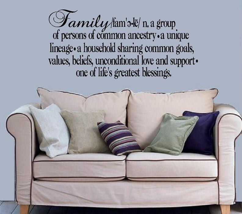 Meaning Of Family Quotes: Wall Decal Family Definition Greatest Blessings Quote