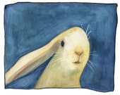 Rabbit Art Print by Lisa Firke - Bestseller - Limited Edition - Great Gift - Just Because