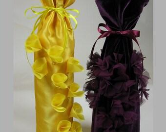 Wine Gift Bag PDF Pattern Round Gift Bag Pattern...Mareeco