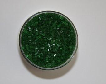 2 oz Jar Green Crystal Sugar