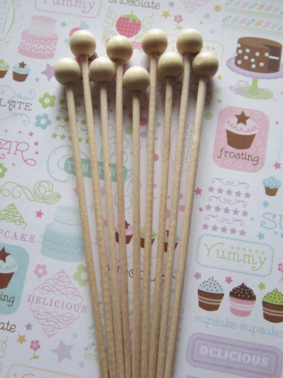 Rock Candy Wooden Sticks ~ Cake Pop ~ Marshmallow Stick ~ Krispy Stick