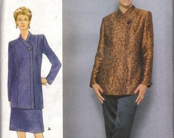 Skirt, Pants & Asymmetrical Jacket Pattern Vogue 9775 Size 6 8 10 Uncut
