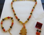 The Colors Of Fall Necklace Set
