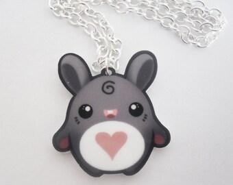SALE - Lill Bunny - Tomo Acrylic Kawaii Bunny Necklace Charm