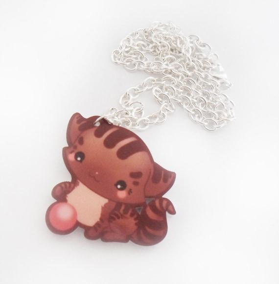SALE - KAWAII KITTEN - Kawaii Kitten Necklace Charm