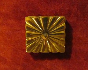 """Vintage monogrammed Elizabeth Arden compact, retro compact engraved with initial """"A"""""""