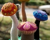 Mushrooms - Alice in Wonderland Inspired Soft Sculpture