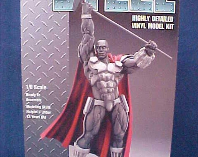 Vintage STEEL Model, DC Comics, Rare, Discontinued, Highly Detailed, Weapons Engineer, Super Hero, Superman, Exo-Skeleton, Kinetic Hammer