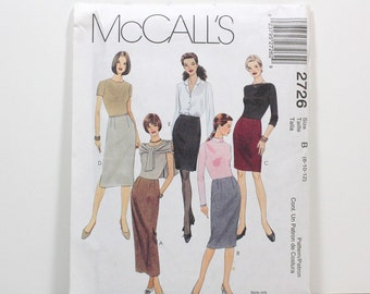 Uncut Sewing Pattern Ladies Skirt - McCall's 2726 - Quick & Easy - Skirt in 3 Lengths