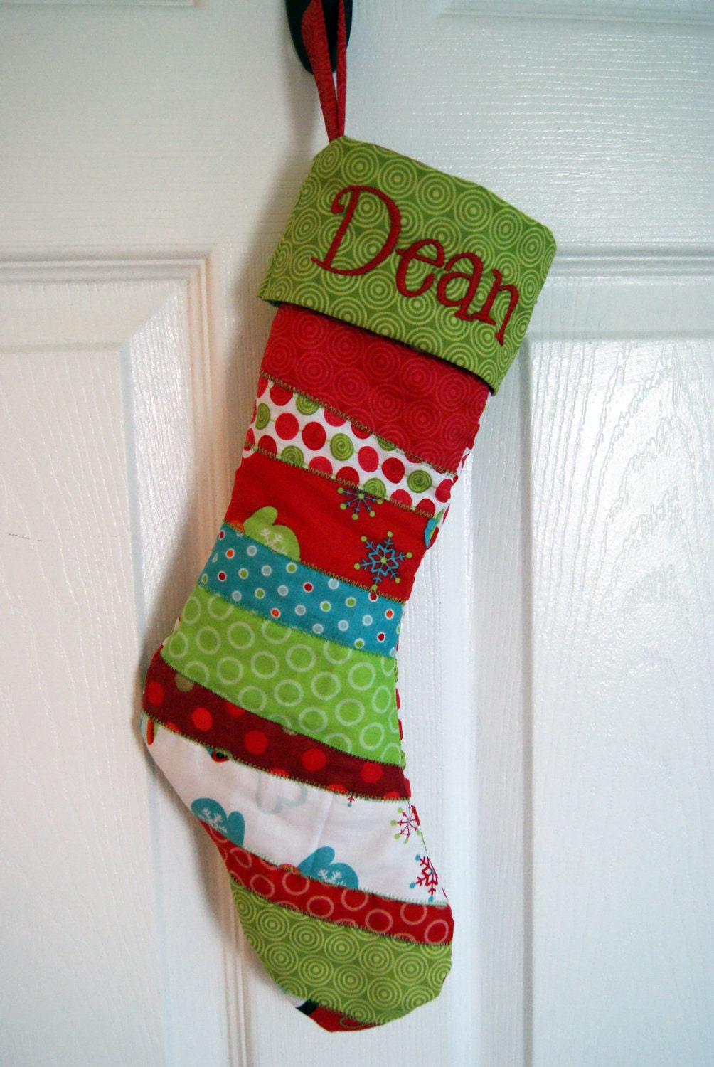 personalized christmas stocking by karenhulsizer on etsy