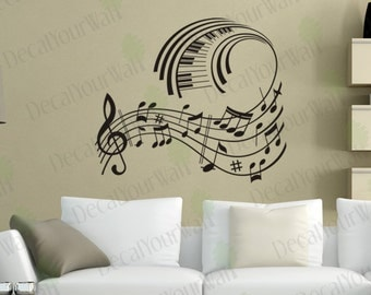 Music Wall Art Music Note Decals Musical Wall Decal Stickers Removable  Vinyl Sticker Wall Art Home Part 23