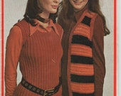 ON SALE - Paton's Knitting and Crochet Pattern No 986 The Slinky Kinky Look in Totem Paton's (Vintage 1970s)