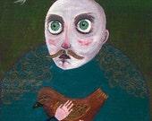 Ghost tale-OOAK acrylic painting on wood